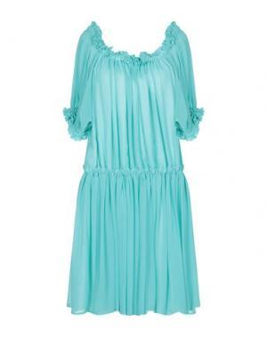 Короткое платье PARAKIAN. Цвет: бирюзовый