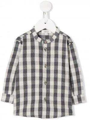 Клетчатая рубашка с воротником-стойкой Aletta. Цвет: серый