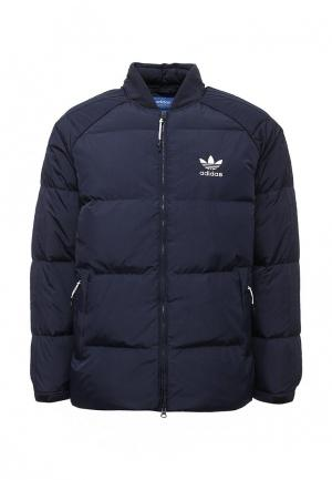 Пуховик adidas Originals SST DOWN JACKET. Цвет: синий