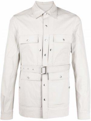 Куртка с поясом Rick Owens. Цвет: нейтральные цвета