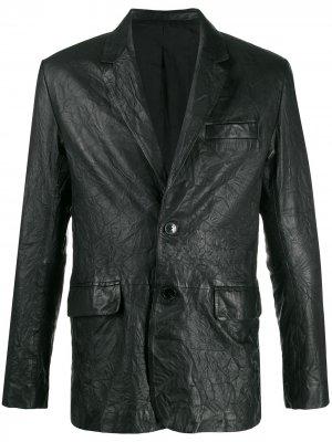 Пиджак с жатым эффектом Zadig&Voltaire. Цвет: черный