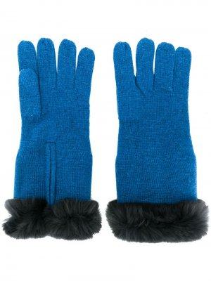 Трикотажные перчатки с меховой отделкой N.Peal
