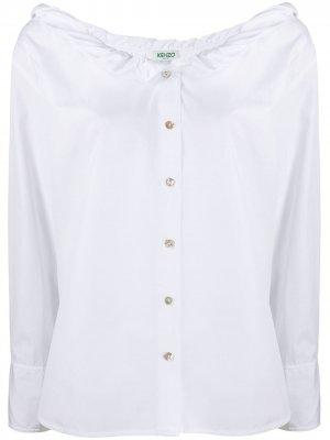 Рубашка с воротником Kenzo. Цвет: белый