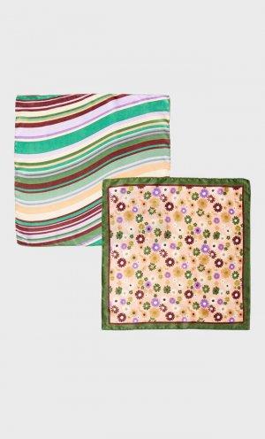 Набор Из 2 Бандан С Цветочным Принтом И В Полоску Multicolor 103 Stradivarius. Цвет: multicolor