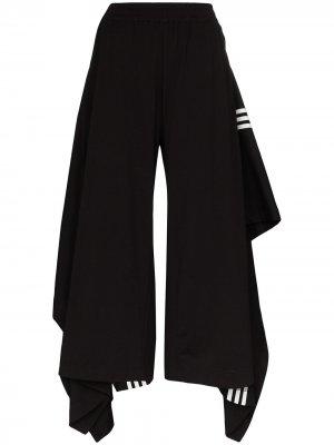 Брюки-юбка с полосками Y-3. Цвет: черный