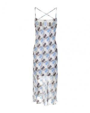 Платье длиной 3/4 AQUILANO-RIMONDI. Цвет: светло-серый