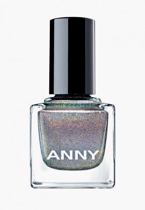 Лак для ногтей Anny тон 701 голографик темно-серый. Цвет: серебряный