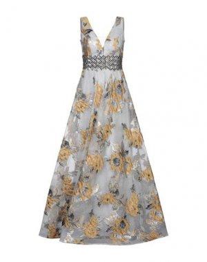 Длинное платье LEXUS. Цвет: серый
