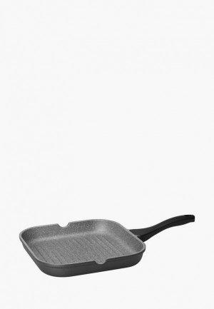Сковорода Nadoba GRANIA гриль. Цвет: серый