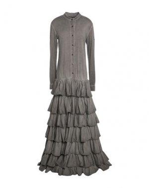 Длинное платье BAD SPIRIT. Цвет: серый