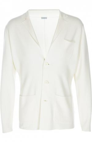 Вязаный пиджак malo. Цвет: белый