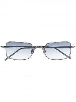 Солнцезащитные очки в прямоугольной оправе Matsuda. Цвет: синий