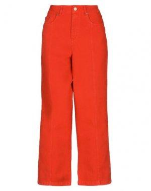 Джинсовые брюки GESTUZ. Цвет: оранжевый