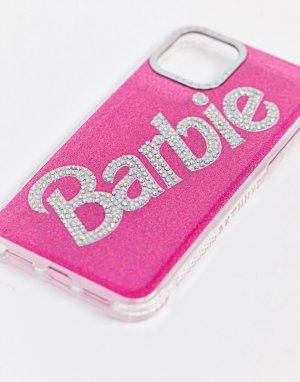 Розовый блестящий чехол для iPhone Barbie Skinnydip