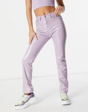 Виниловые зауженные джинсы сиреневого цвета -Фиолетовый цвет Fiorucci