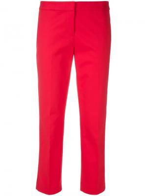 Укороченные классические брюки Michael Kors. Цвет: красный