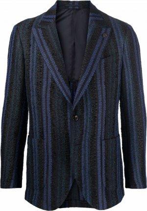 Однобортный пиджак в полоску Gabriele Pasini. Цвет: черный