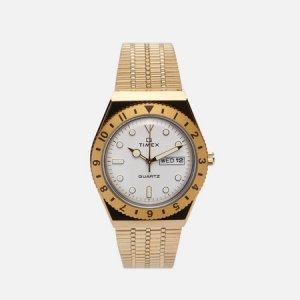 Наручные часы Q Timex. Цвет: золотой
