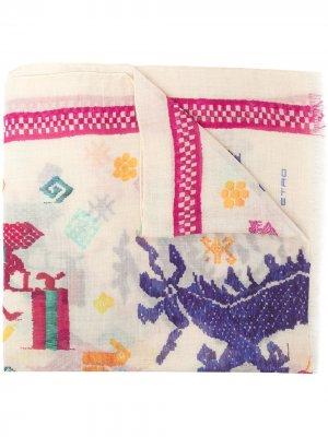 Жаккардовый шарф Etro. Цвет: нейтральные цвета
