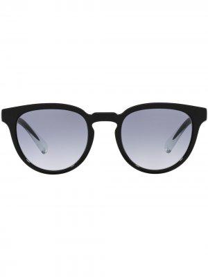 Солнцезащитные очки в круглой оправе Dolce & Gabbana Eyewear. Цвет: черный
