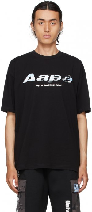 Black Logo T-Shirt AAPE by A Bathing Ape. Цвет: bkx black
