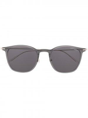 Солнцезащитные очки в прозрачной оправе Montblanc. Цвет: серый