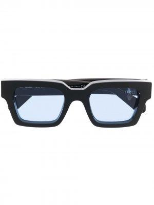 Солнцезащитные очки Virgil в квадратной оправе Off-White. Цвет: черный