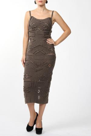 Платье вязаное Dennis Basso. Цвет: зеленый