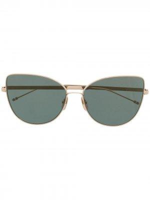 Солнцезащитные очки в оправе кошачий глаз Thom Browne Eyewear. Цвет: золотистый