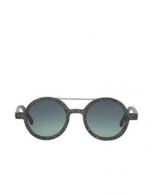 Солнечные очки KOMONO. Цвет: стальной серый