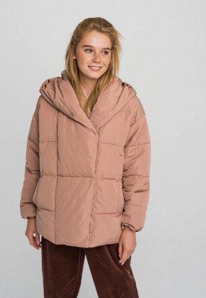 Куртка утепленная Befree. Цвет: бежевый