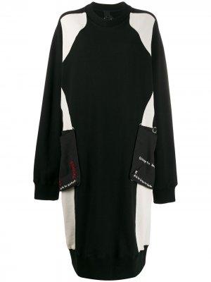 Платье-свитер оверсайз Bernhard Willhelm. Цвет: черный