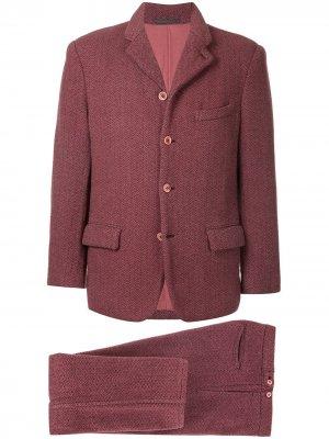 Двухцветный текстурный костюм Comme Des Garçons Pre-Owned. Цвет: розовый