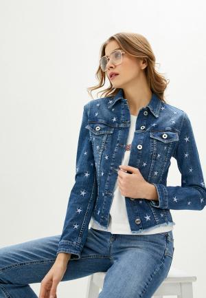 Куртка джинсовая Liu Jo ECS GIUBBINO RIDER. Цвет: синий