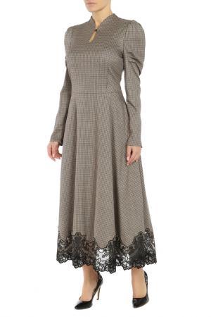 Платье Alter Ego. Цвет: бежевый,черный