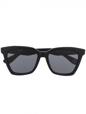 Солнцезащитные очки трапециевидной формы A BATHING APE®. Цвет: черный