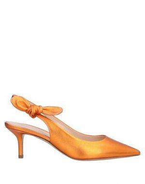 Туфли LERRE. Цвет: оранжевый
