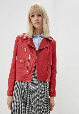 Куртка кожаная Max&Co. Цвет: красный