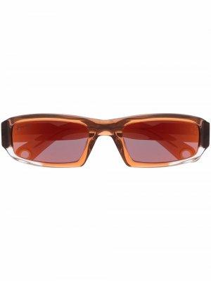 Солнцезащитные очки Les Lunettes Altù Jacquemus. Цвет: коричневый