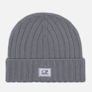 Шапка Extra Fine Merino Wool Logo C.P. Company. Цвет: серый