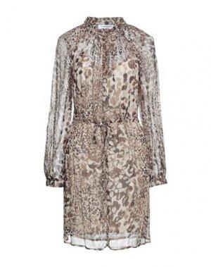 Короткое платье ANNA RACHELE. Цвет: коричневый