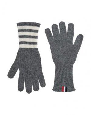 Перчатки THOM BROWNE. Цвет: серый