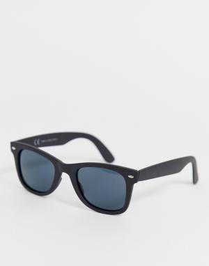 Черные квадратные матовые солнцезащитные очки -Черный River Island