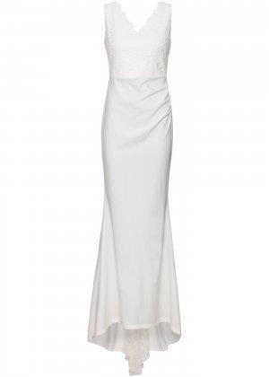Платье свадебное bonprix. Цвет: белый