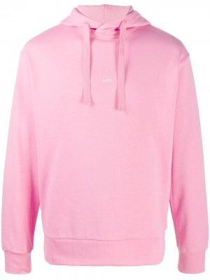 Худи с логотипом A.P.C.. Цвет: розовый