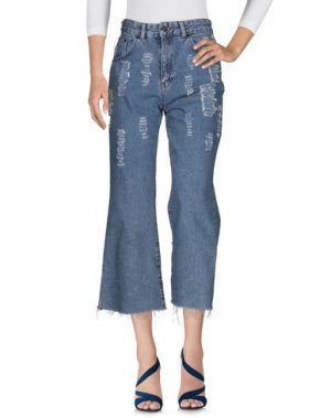 Джинсовые брюки-капри THE RAGGED PRIEST. Цвет: синий