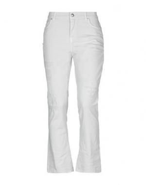 Джинсовые брюки-капри AGLINI. Цвет: светло-серый