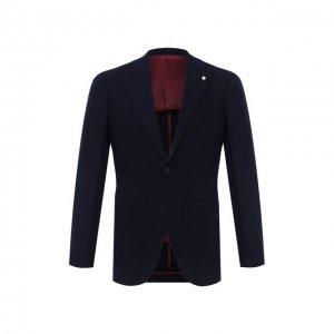 Кашемировый пиджак L.B.M. 1911. Цвет: синий