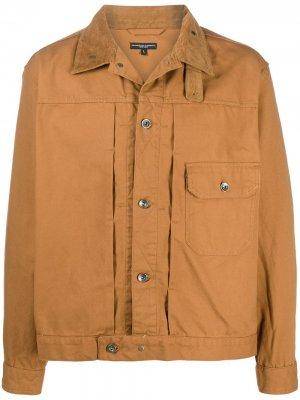Куртка-рубашка с длинными рукавами и вставками Engineered Garments. Цвет: коричневый