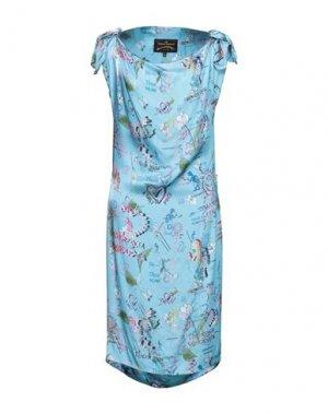Платье миди VIVIENNE WESTWOOD ANGLOMANIA. Цвет: лазурный